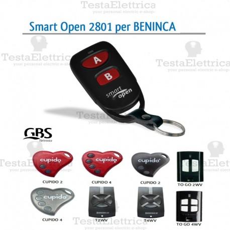 Radiocomando compatibile Beninca Smart Open 2801 Gbs