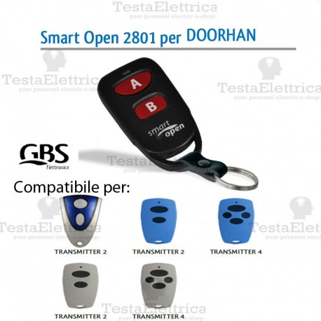 Telecomando compatibile Dea Smart Open 2801 Gbs