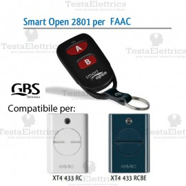 Telecomando compatibile Erreka Smart Open 2801 Gbs