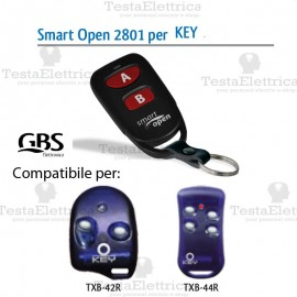 Telecomando compatibile GiBiDi Smart Open 2801 Gbs