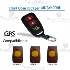 Telecomando compatibile Mutancode Smart Open 2801 Gbs