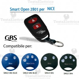 Telecomando compatibile Nice Smart Open 2801 Gbs
