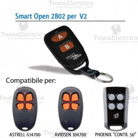 Telecomando compatibile NICE smart Open 2802 Gbs