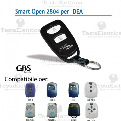 Telecomando compatibile CAME smart Open 2804 Gbs