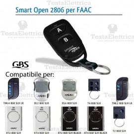 Telecomando compatibile FAAC smart Open 2806 Gbs