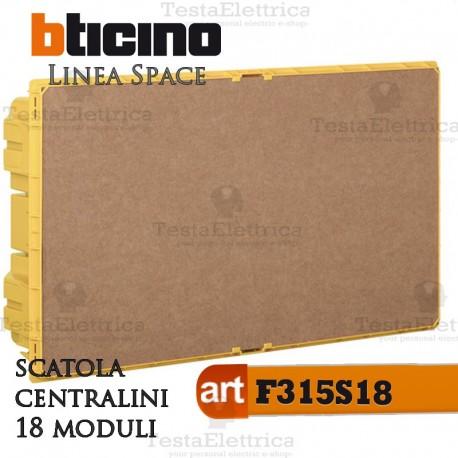 Scatola  F315S18  incasso per centralini 18 moduli linea Space Bticino