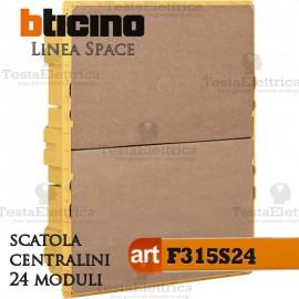 Scatola  F315S24  incasso per centralini 24 moduli linea Space Bticino