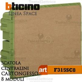 Scatola F315SC8 incasso cartongesso per centralini 8 moduli linea Space Bticino