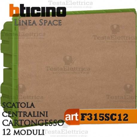 Scatola  F315SC12 incasso per centralini 12 moduli linea Space Bticino