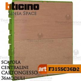 Scatola F315S36D2 incasso per centralini 36 moduli linea Space Bticino