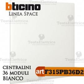 Centralino serie Space  Bianco F315PB36D2 36 moduli din per cassette incasso Bticino