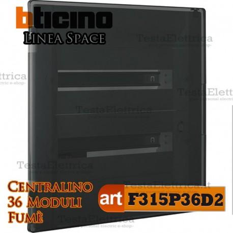 Centralino serie Space  Fumè F315P36D2 36 moduli din per quadri elettrici incasso Bticino