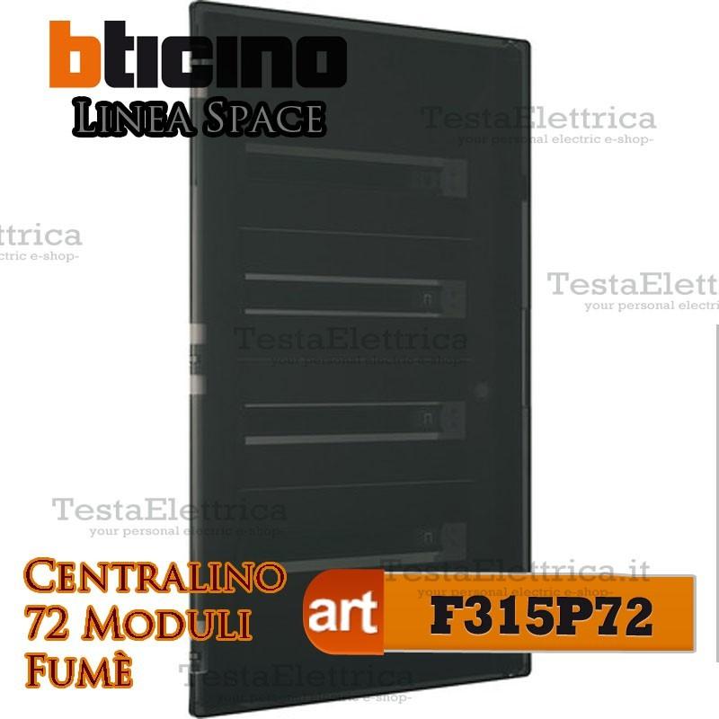 Bticino f315p72 centralino linea space 72 moduli su quadro for Centralino esterno 4 moduli