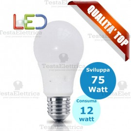 Lampadina a led goccia 12 Watt E27 Rosalight
