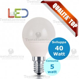 Lampadina a led  mini goccia 5 Watt E14 Rosalight