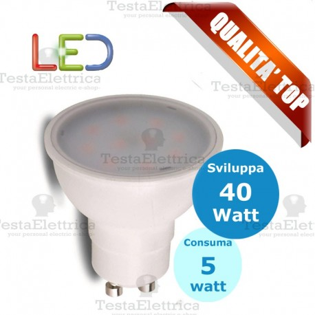 Lampada led GU10 220V 5W MR16 RosaLight