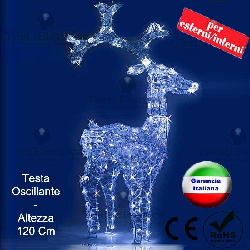 Renna luminosa a led natalizia bamby rosachristmas - Renna natalizia luminosa per giardino ...