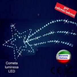 Stella cometa luminosa a Led interno/esterno RosaChristmas