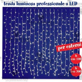Tenda Luminosa a Led pofessionale  3 metri prolungabile RosaChristmas