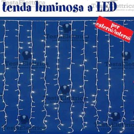 Tenda Luminosa a Led altezza 1,5 metri RosaChristmas