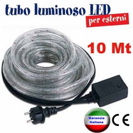 Tubo Luminoso a Led 10 metri RosaChristmas