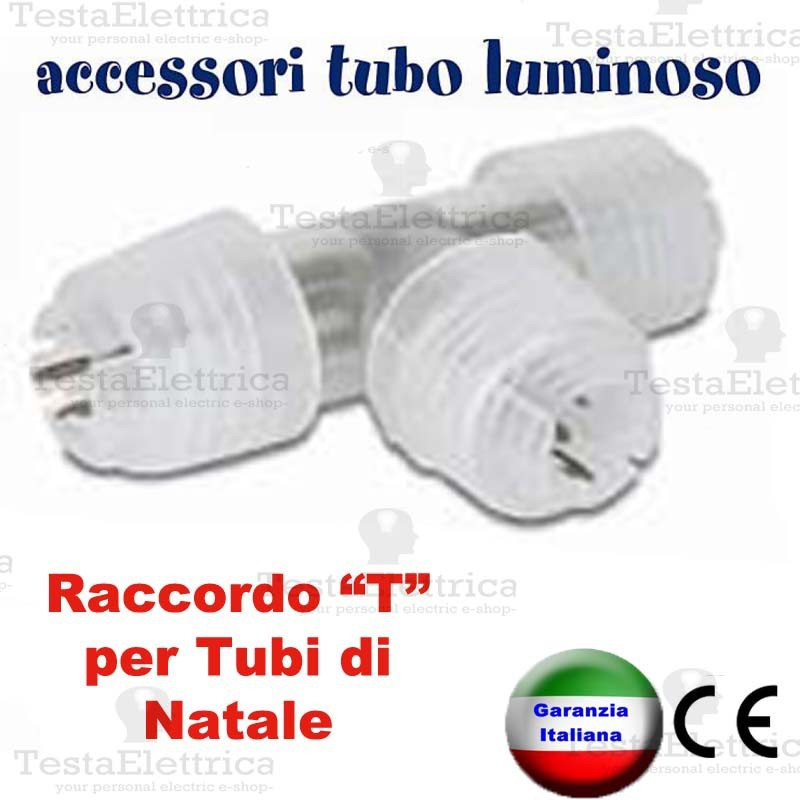 Raccordo t per tubo luminoso a led natalizio for Tubi luminosi led