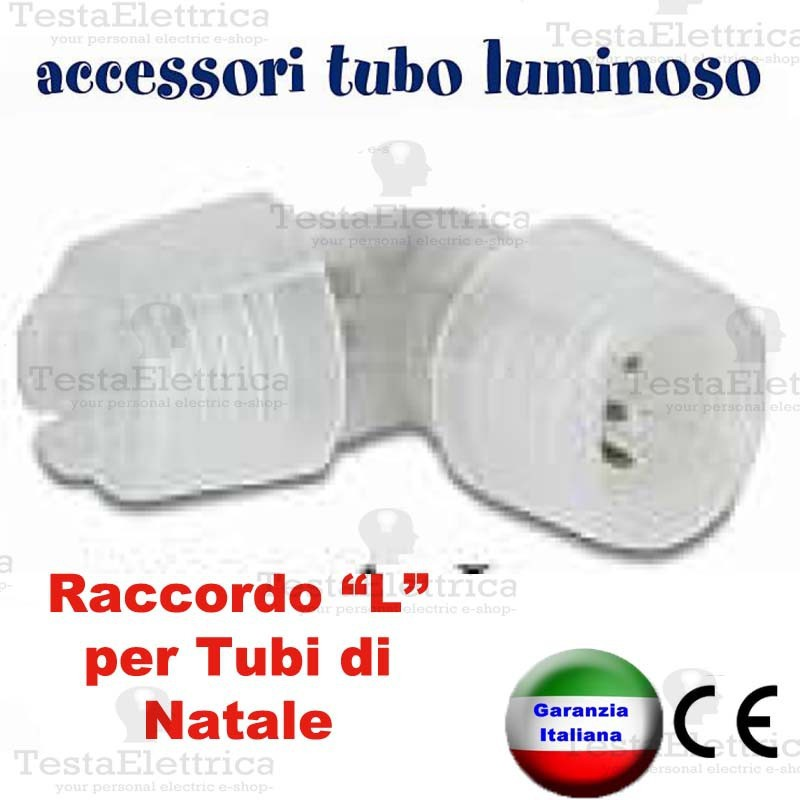 Raccordo l per tubo luminoso a led natalizio for Tubi luminosi led