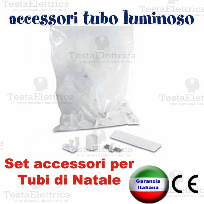 Set accessori per tubo luminoso a led natalizio for Tubi luminosi led