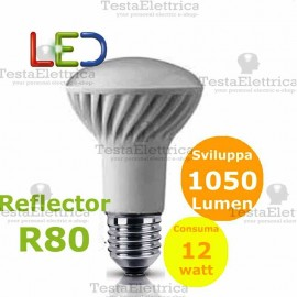 Lampada a led reflector R80 E27 12 W Wiva