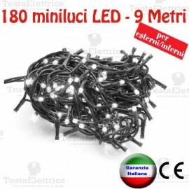 Serie da 180 minilucciole LED Bianco ghiaccio esterno/interno RosaChristmas