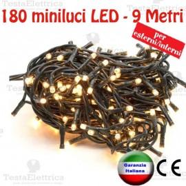 Serie da 180 minilucciole LED Bianco Caldo esterno/interno RosaChristmas