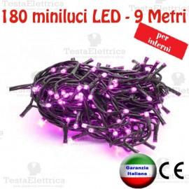 Serie da 180 minilucciole LED Glicine interno RosaChristmas