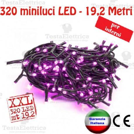 Serie da 320 minilucciole LED Glicine interno  RosaChristmas