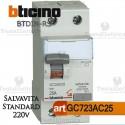 Interruttore Differenziale Salvavita 25A  220V Bticino