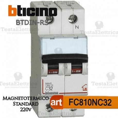 Interruttore magnetotermico C32A  220V Bticino