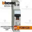 Interruttore magnetotermico C20A  220V Bticino