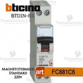 Interruttore magnetotermico C6A 220V Bticino