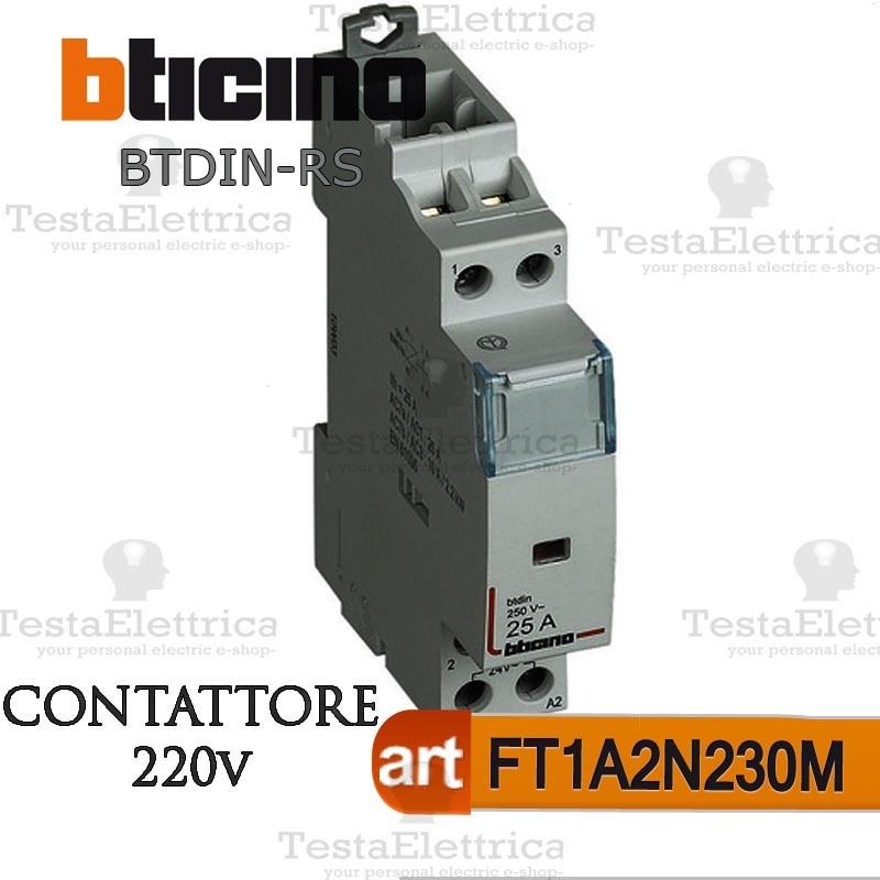 Schema Elettrico Teleruttore : Bticino ft a n m contattore ampere per centralino