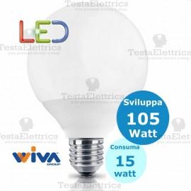 Lampadina a led Globo E27 15 Watt Pro Deco Wiva