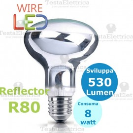 Lampada a led reflector R80 E27 9 W DGK