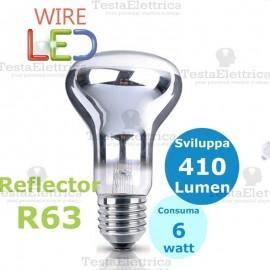 Lampada a led reflector R63 E27 6 W DGK