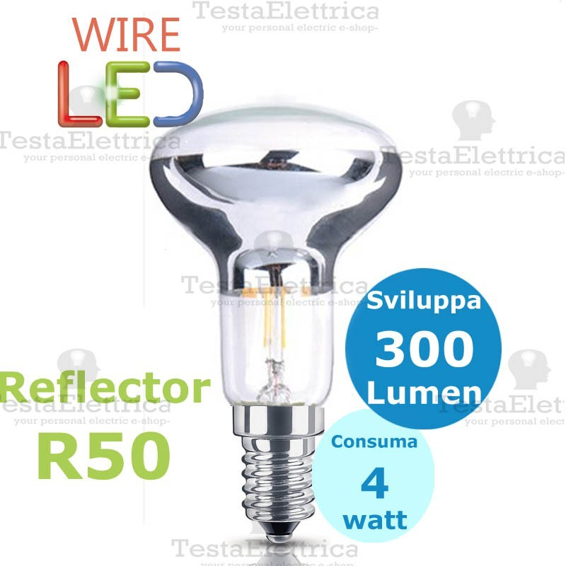 Reflector r50 wireled e14 4 watt for Lampada led 50 watt