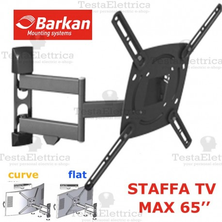 Staffa per TV curve max 65 Pollici Barkan