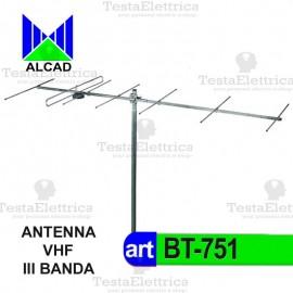 antenna DTT VHF III Banda bt-751 Alcad