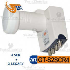 Convertitore LNB SCR 1 Out 4ch SCR + 2 Out Legacy GT SAT