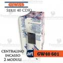 Centralino 2 moduli per quadri elettrici incasso 40601 Gewiss