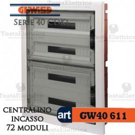 Centralino 72 moduli per quadri elettrici incasso 40611 Gewiss