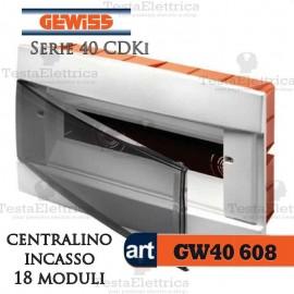 Centralino 18 moduli  per quadri elettrici incasso 40608 Gewiss