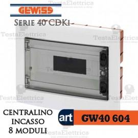 Centralino 12 moduli per quadri elettrici incasso 40605 Gewiss