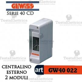 Centralino 2 moduli per quadri elettrici esterni 40022 Gewiss